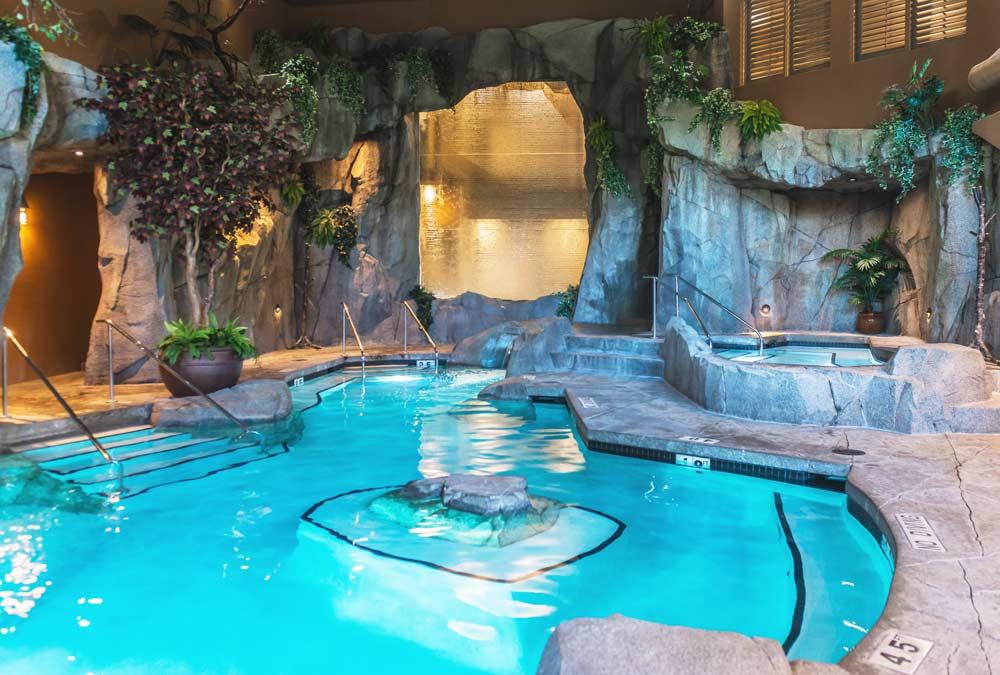 Pools at Grotto Spa at Tigh-Na-Mara in Parksville, Vancouver Island British Columbia