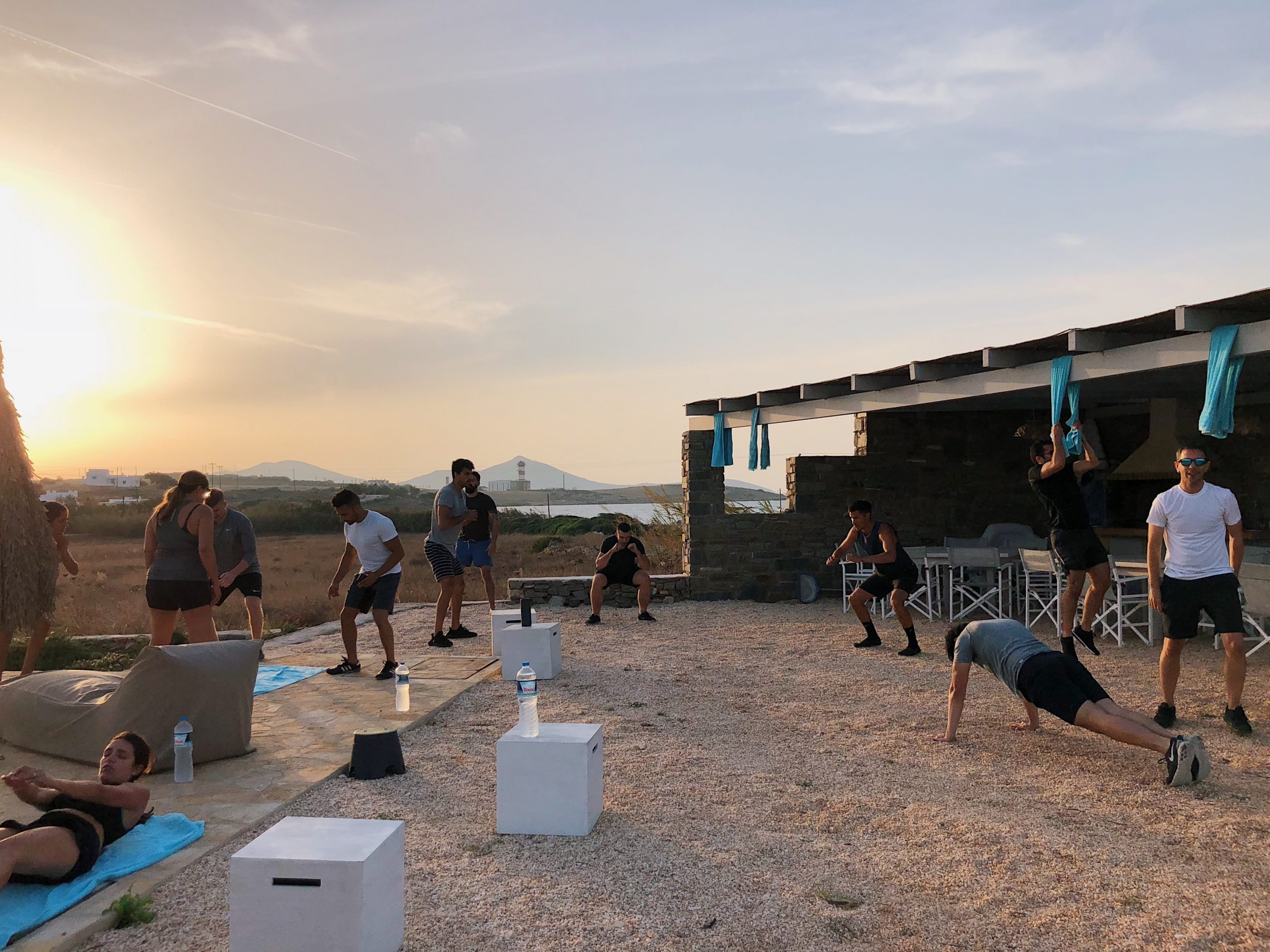 group fitness bootcamp in paros greece