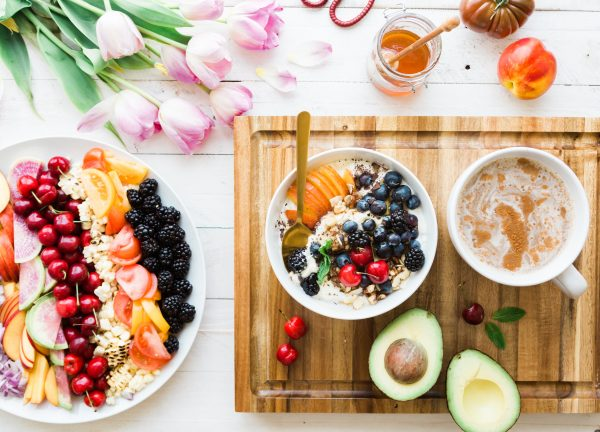 eating healthy while traveling - nutritious meal on a table