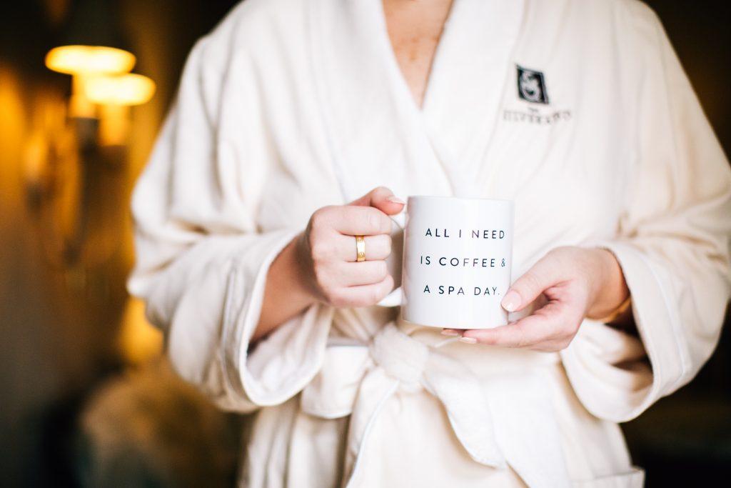all i need is coffee and a spa day mug at Silverado Resort and Spa