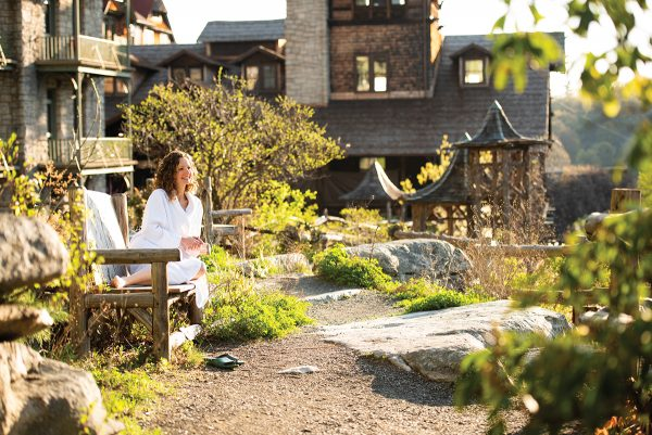 mohonk mountain house outdoor spa - best wellness resorts and retreats in new york