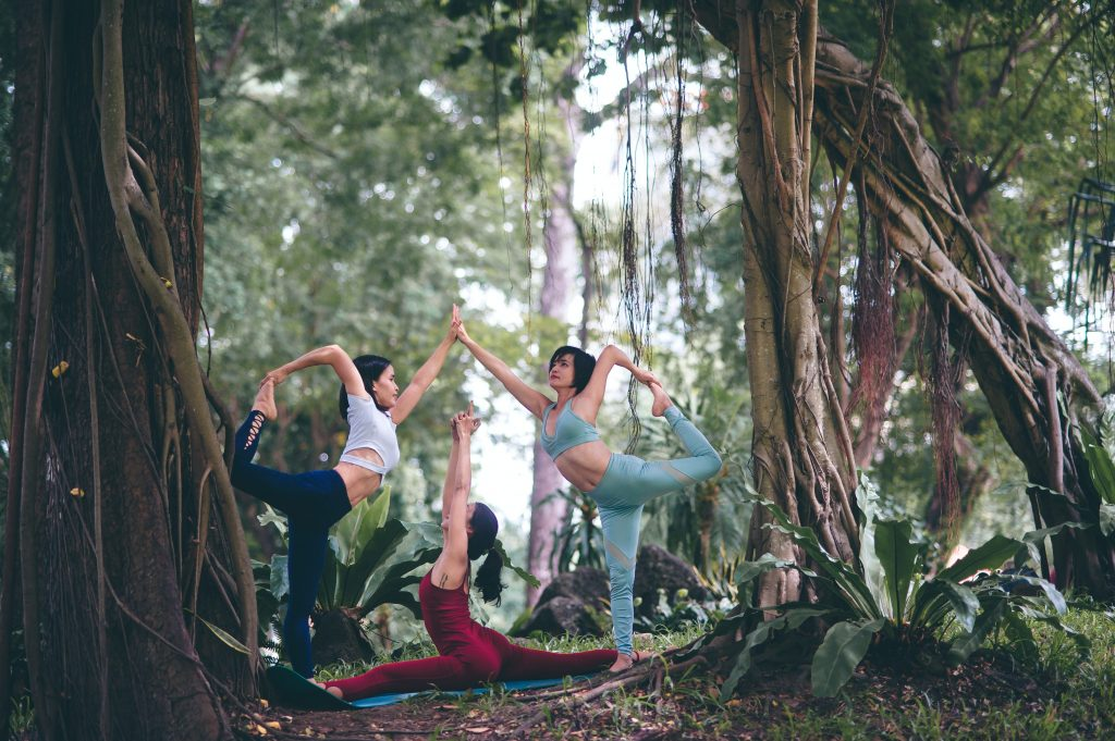 yoga in the forest - are yoga retreats worth it - unsplash