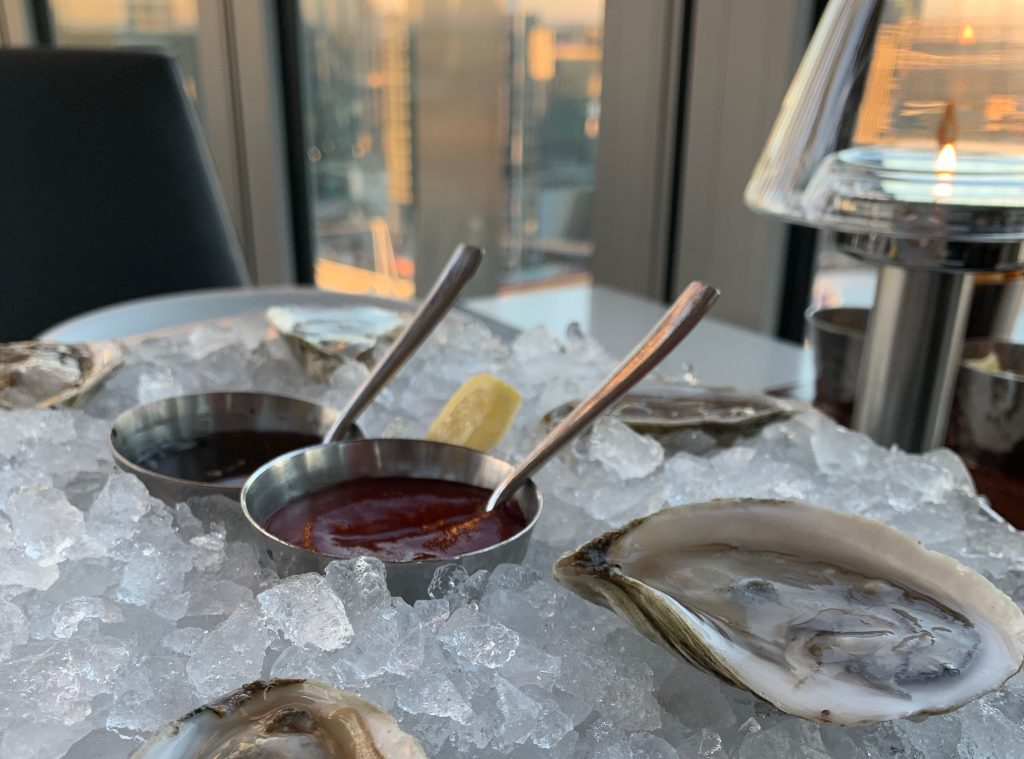 Oysters at Bourbon Steak
