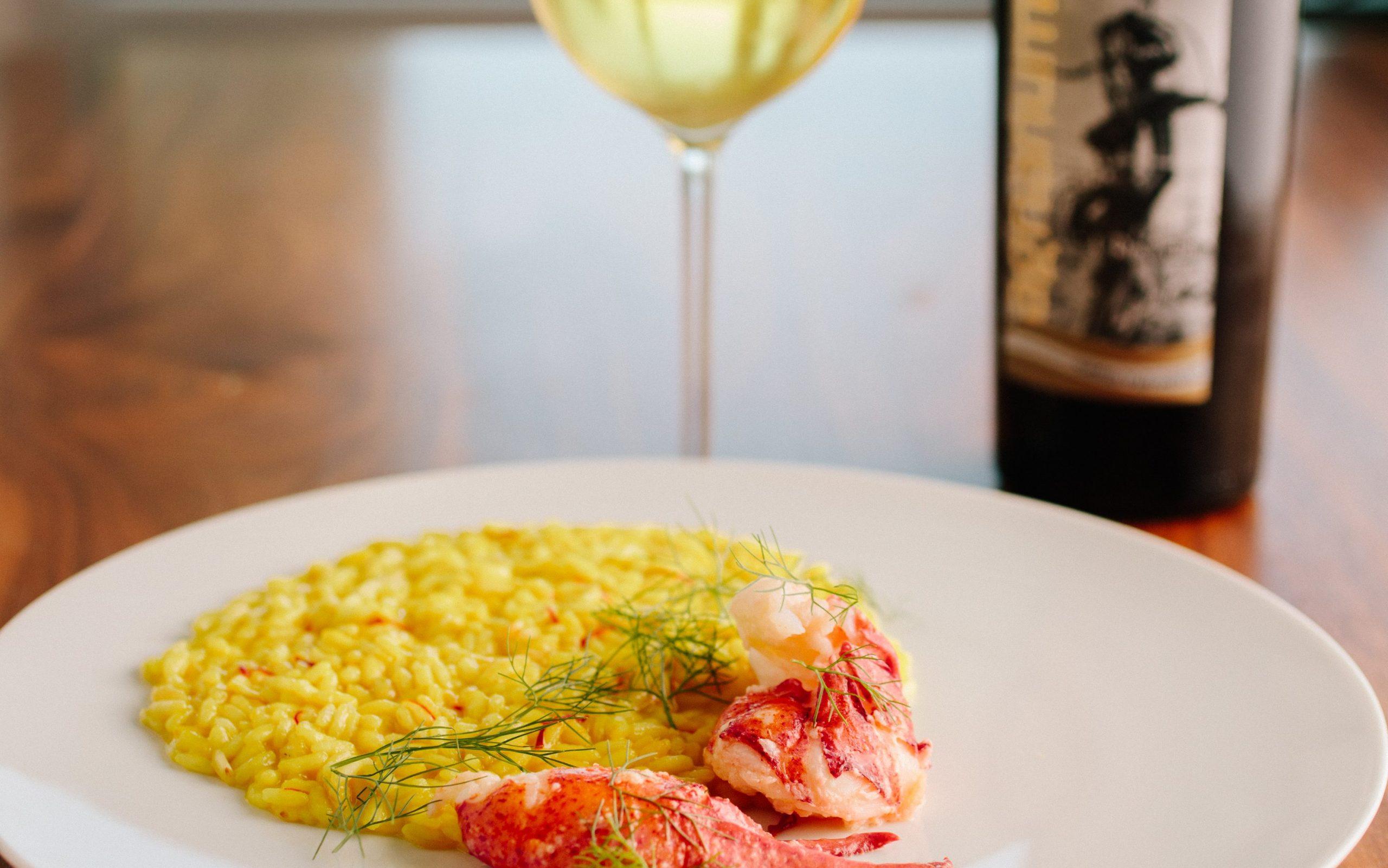 Lobster risotto at Yolan