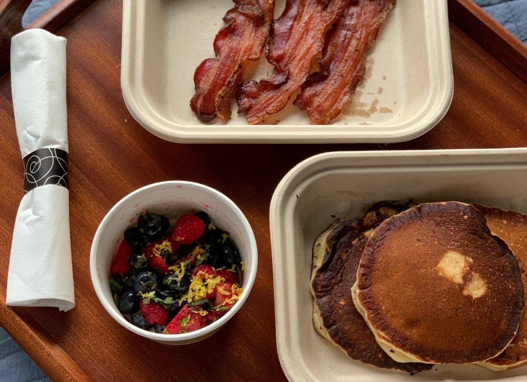 Room service breakfast at The Joseph Nashville