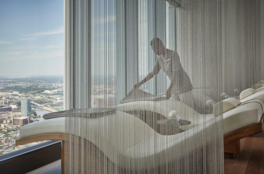 spa relaxation room at four seasons philadelphia