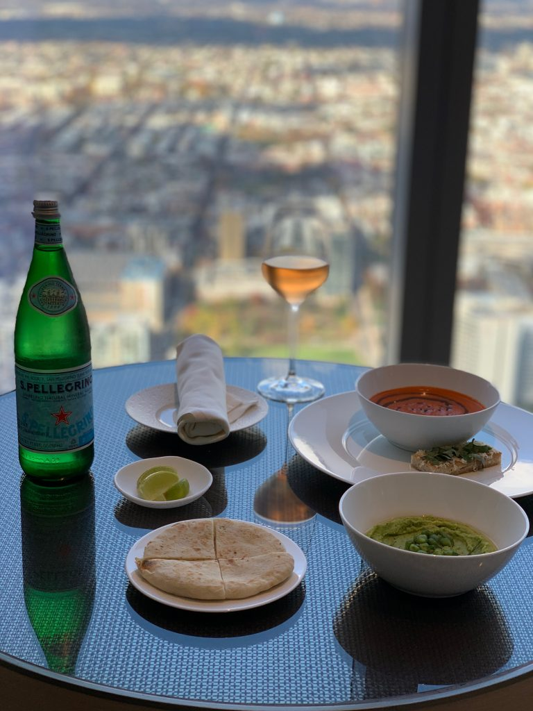 lunch from bedroom with a view of philadelphia in the distance