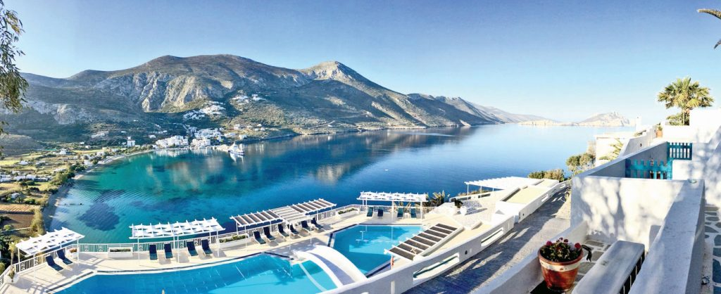 The aerial view at Aegialis Hotel and Spa - greece winter escape