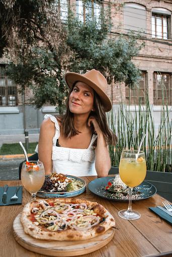 Plant-based restaurant patio dining