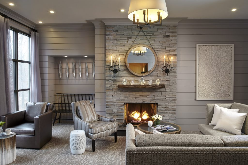 The Lodge at Woodloch Fireplace