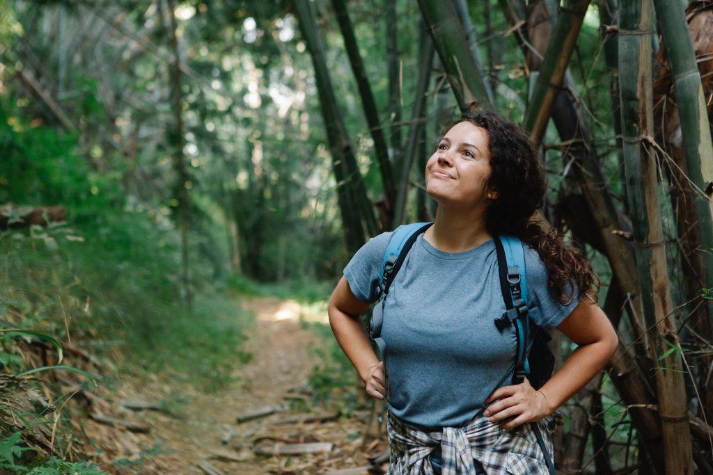 smiling wellness traveler
