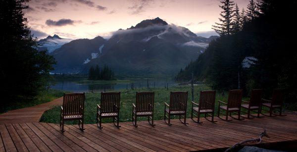 Sunrise at Kenai Fjords Glacier Lodge