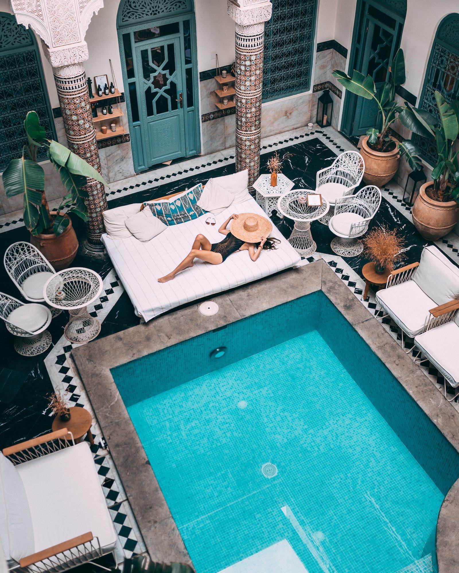 luxury pool vacation