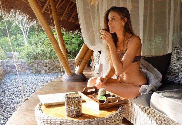 Sara Experiencing an Extravagant Wellness Retreat at Bawah Reserve