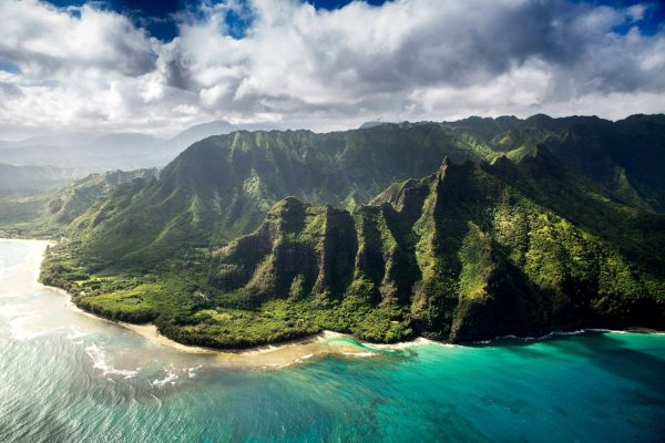 Travel to Kauai coastal view