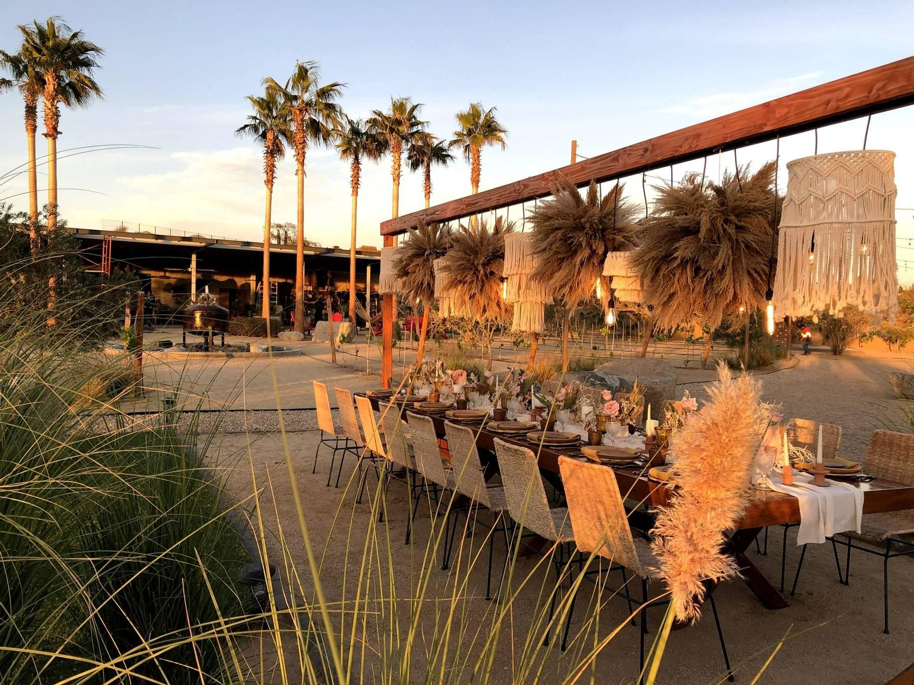 El Huerto Los Cabos outdoor dining