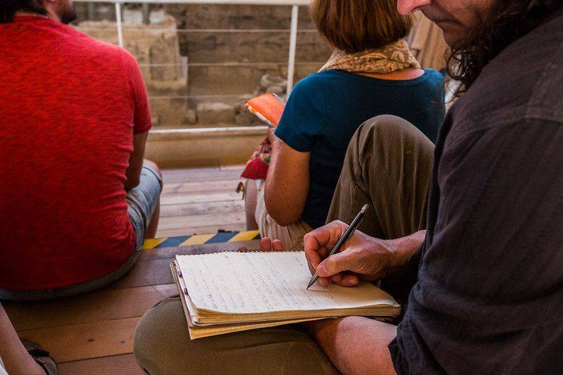 Sacred Earth Journeys writing retreat session