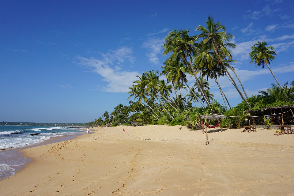 Tropical Beach Sand Coast in Sri Lanka