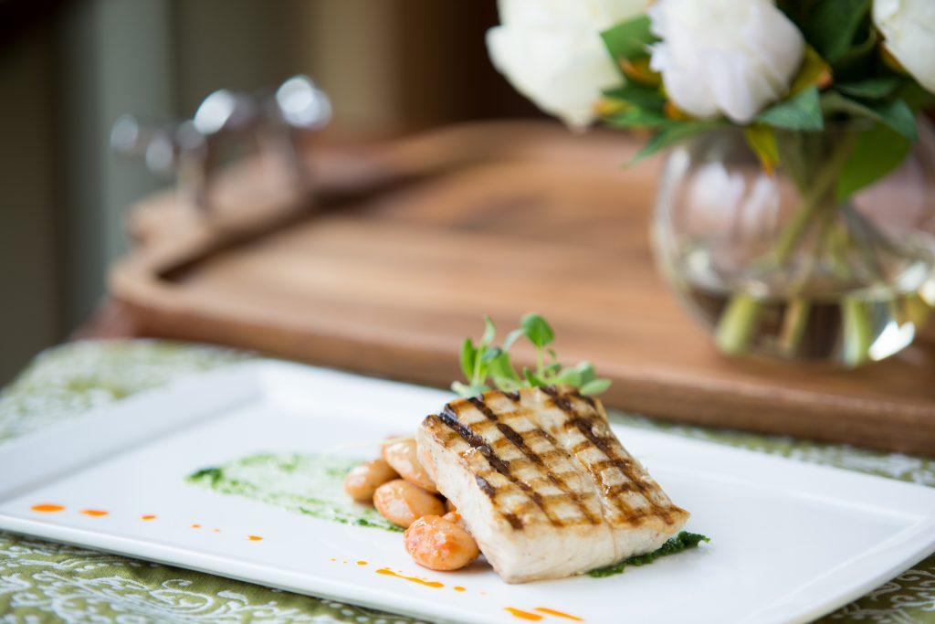 Fish dish TREE Restaurant at the Lodge at Woodloch