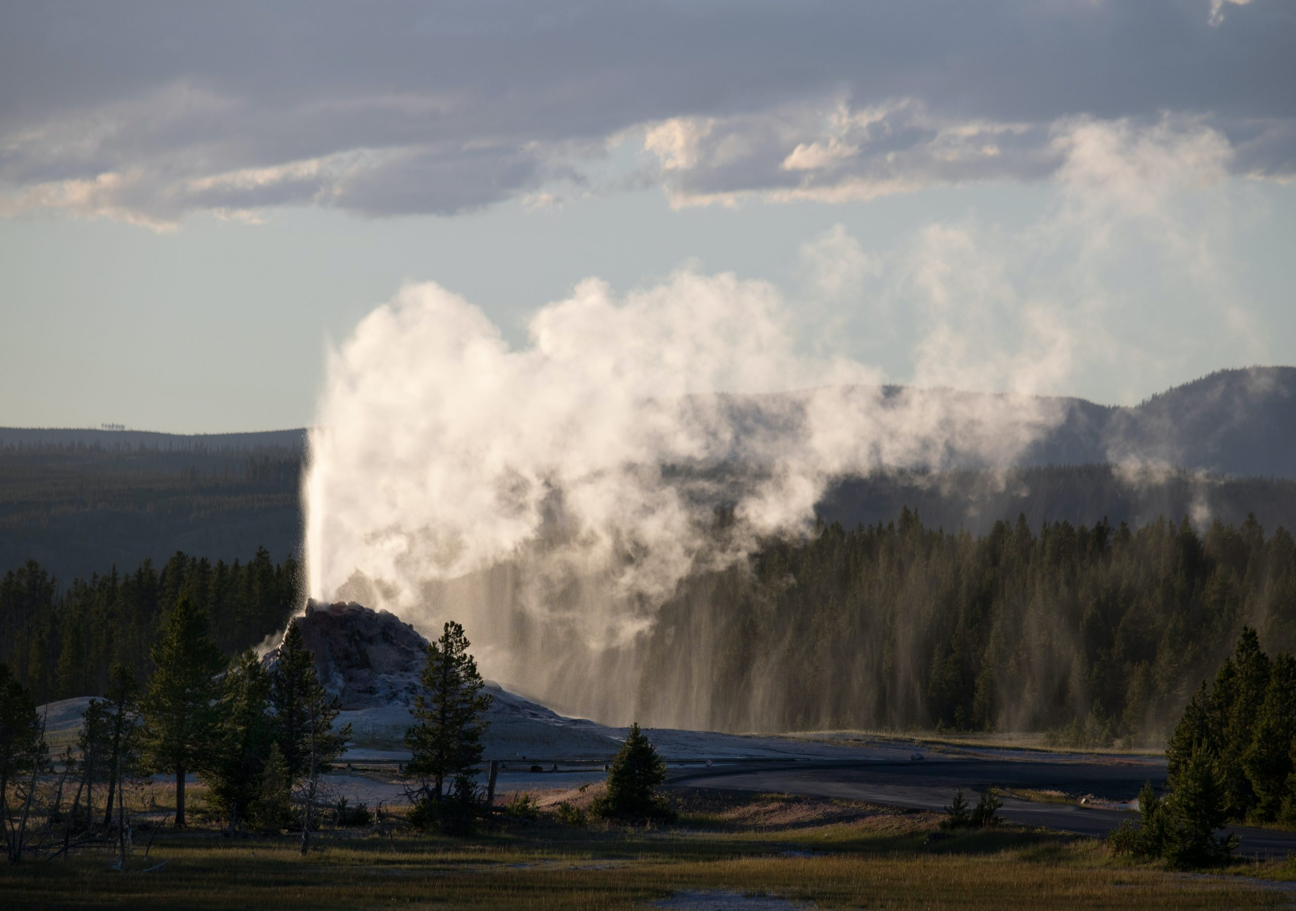 White dome geyser in yellowstone national park wyoming - summer bucket list